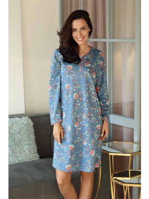 Katoen blauw nachthemd Comtessa