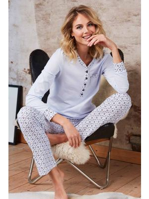 Pastunette  dames pyjama blauw