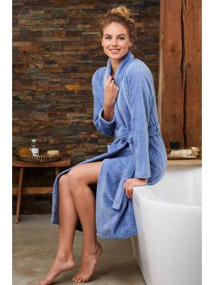 Overslag badjas blauw Pastunette