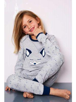 Meisjes pyjama grijs Rebelle