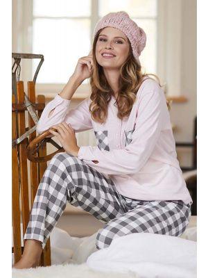 Roze grijze dames pyjama Ringella