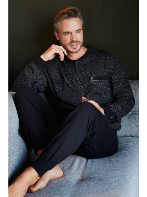 Heren pyjama zwart Robson