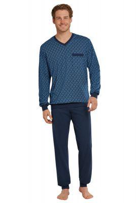 Sportieve blauwe herenpyjama