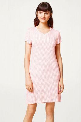 Nachthemd van Esprit koraal roze