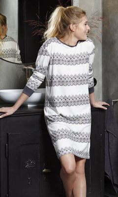 Wit nachthemd patroon Pastunette