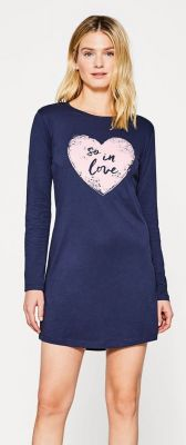 Blauw nachthemd van Esprit hart
