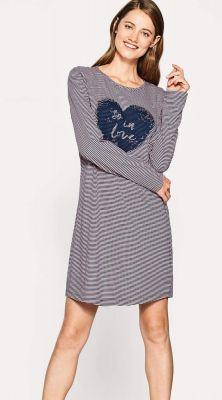 Gestreept nachthemd van Esprit hart