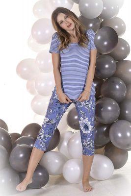 Blauwe Bloomy pyjama strepen