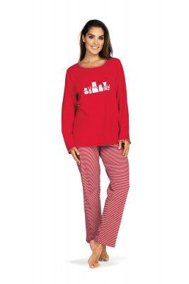 Dames pyjama rood