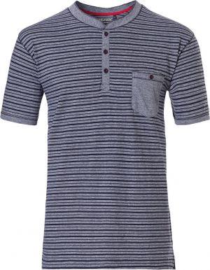 Blauw gestreept pyjama shirt