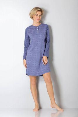Dames nachthemd blauw Hajo