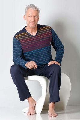 Heren pyjama gestreept