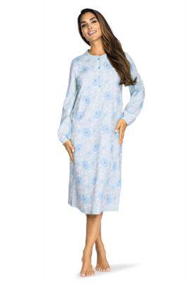Klassiek dames nachthemd blauw