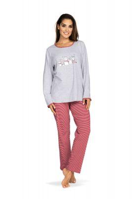 Dames pyjama grijs