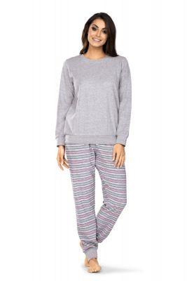 Dames badstof pyjama grijs