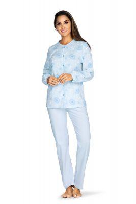 Doorknoop pyjama blauw