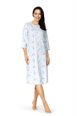 Klassiek blauw lang nachthemd