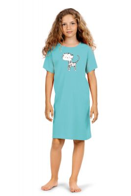 Turquoise meisjes nachthemd Comtessa