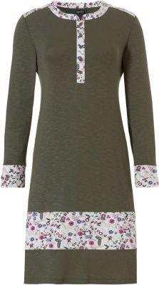 Nachthemd groen met bloemen Pastunette