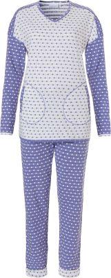 Blauw stippen pyjama Pastunette