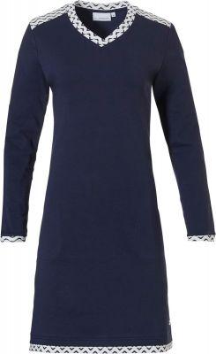 Warm nachthemd blauw Pastunette
