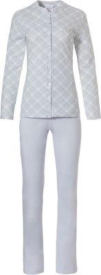 Doorknoop dames pyjama geruit