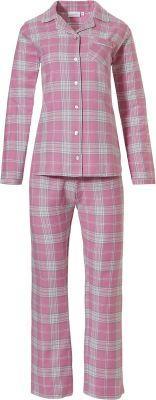 Flanellen doorknoop dames pyjama
