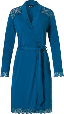Dames badjas blauw