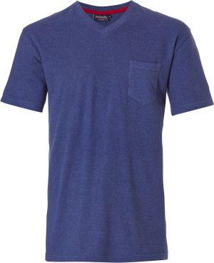 Blauw pyjama shirt heren