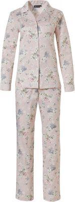 Satijnen doorknoop pyjama dames