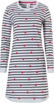 Dames nachthemd Rebelle strepen en stippen