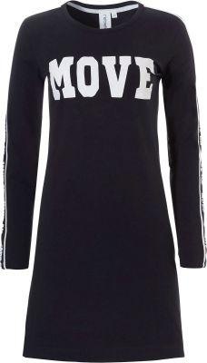 Sportief zwart nachthemd Rebelle