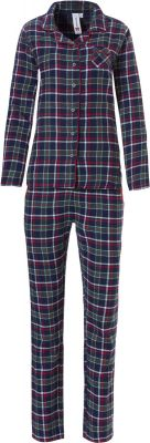 Geruite flanellen doorknoop pyjama Rebelle