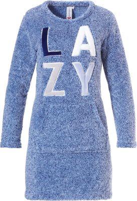 Lounge dames nachthemd blauw Rebelle
