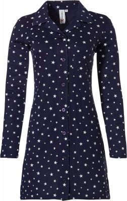 Dames doorknoop nachthemd ster