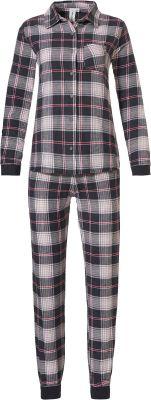 Doorknoop dames pyjama flanel