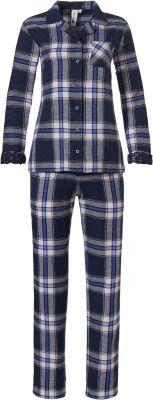 Geruite doorknoop pyjama flanel