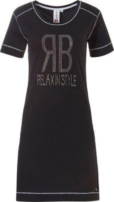 Zwart sportief nachthemd Rebelle