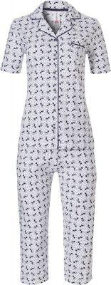 Doorknoop pyjama katoen