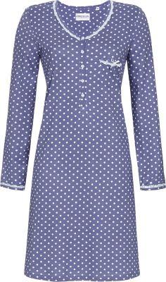 Blauw stippen nachthemd Ringella