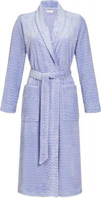 Zigzag dames badjas licht blauw