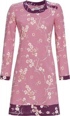 Fel roze Ringella nachthemd bloemen