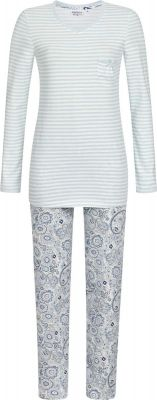 Blauwe dames pyjama Paisley