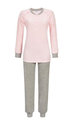 Roze badstof pyjama Ringella