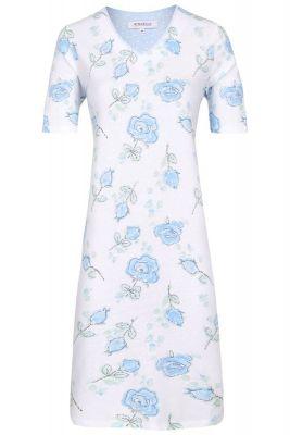 Blauw rozen nachthemd Ringella