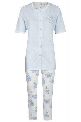 Doorknoop pyjama Ringella blauw