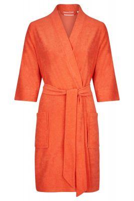 Oranje dames badjas driekwart mouwen