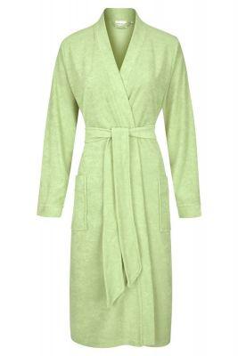 Groene dames badjas lange mouwen