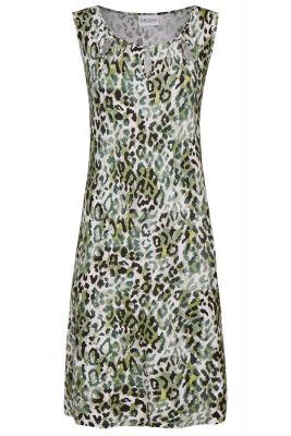 Ringella strandjurk groene luipaardprint