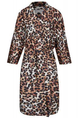 Satijnen Ringella badjas luipaardprint